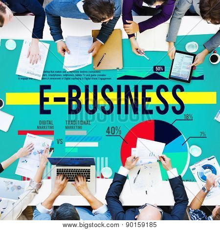 E-business Marketing E-commerce Business Concept