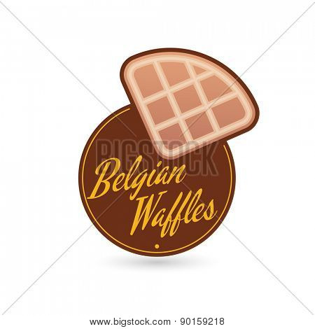 belgian waffles sign