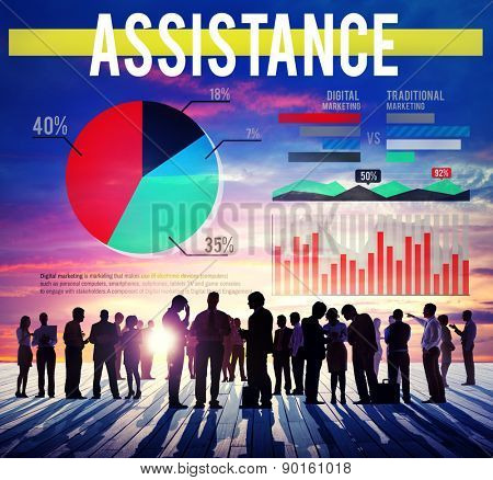 Assistance Support Assist Marketing Help Concept