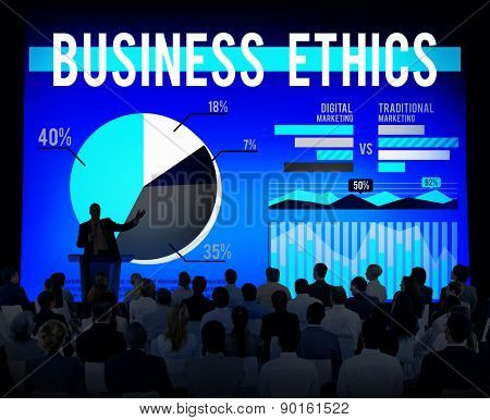 Business Ethics Moral Policies Awareness Marketing Concept