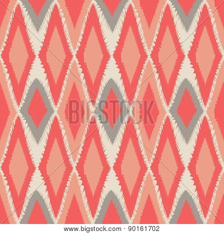 Abstract Tribal Art Ethnic Seamless Ikat Pattern Folk Repeating Background Texture Geometric Print