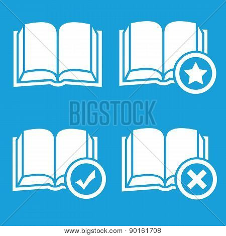 Books preferences icon set