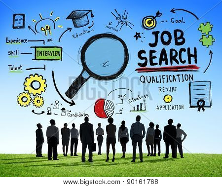 Business People Discussion Aspiration Job Search Concept