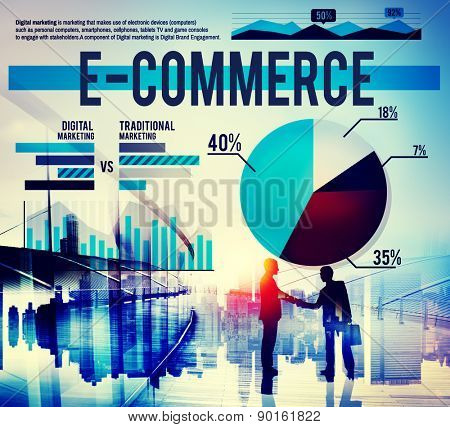 E-commerce Business Analysis Marketing Concept