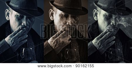 Cold Faces Of Old Mafia