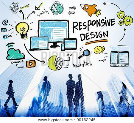 Responsive Design Responsive Quality Analytics Immagination Concept