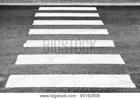 Pedestrian Crossing Road Marking Perspective View