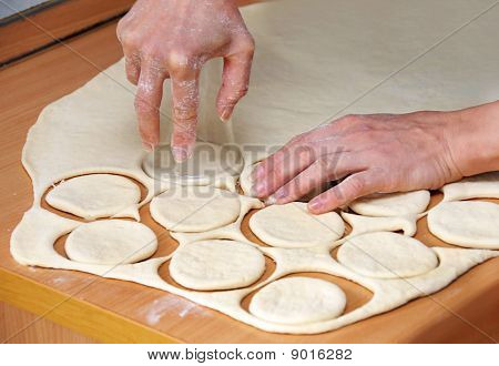 Hands Od Raw Dough Preparing Pastry