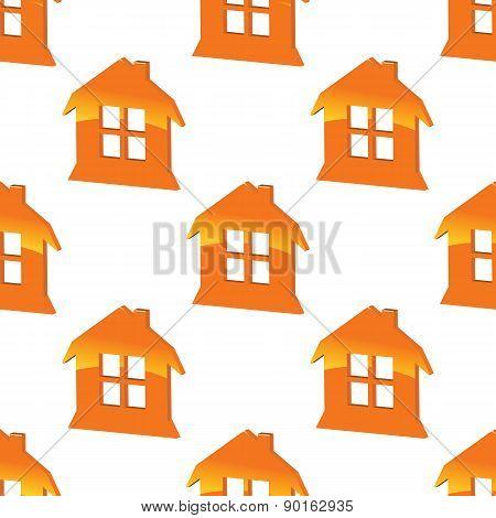 Orange house pattern