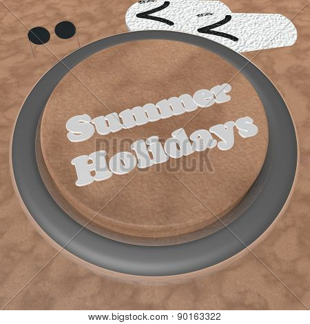 Summer Holidays Button