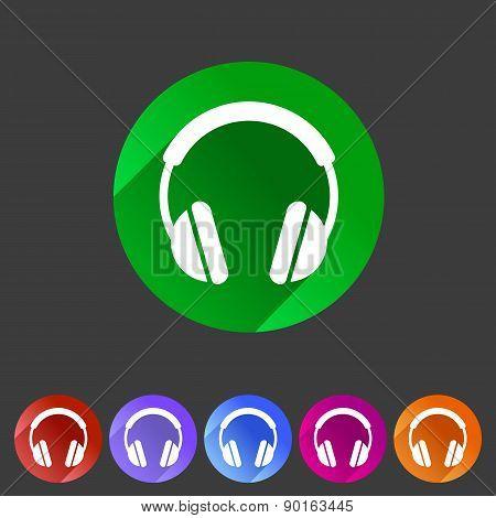 headphone dj icon sign symbol logo label