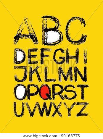 alphabet. hand drawn in vector