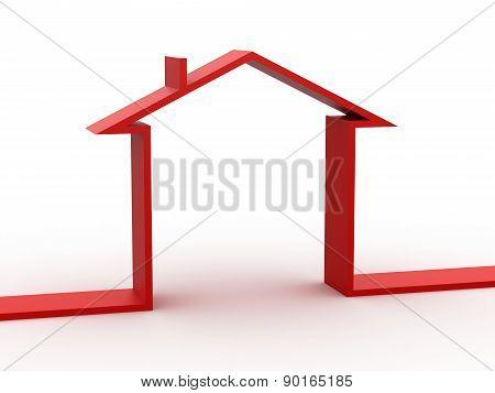 3d house shape