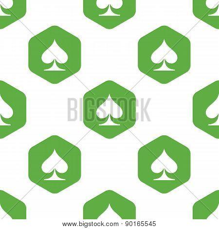 Spades symbol pattern