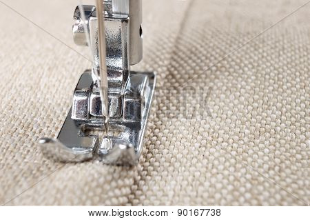 Sewing Machine Foot And Item Of Clothing