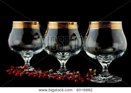 Elegant Glass Of Spirits