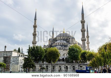 View On Blue Mosque In Istanbul