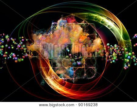 Vibrant Abstract Visualization
