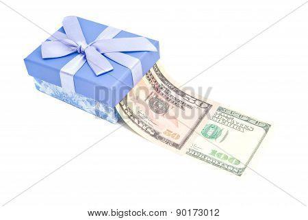 Single Gift Box And Money