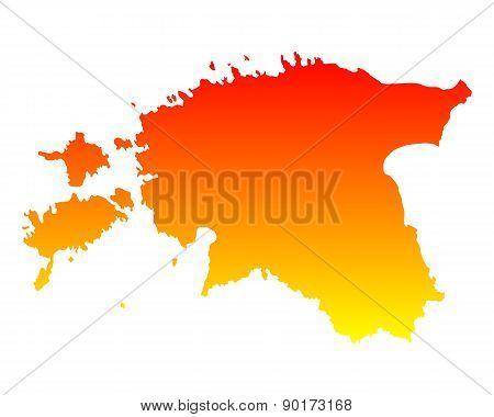Map Of Estonia