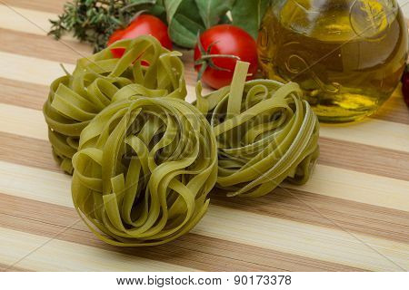 Green Spinach Fettuccine