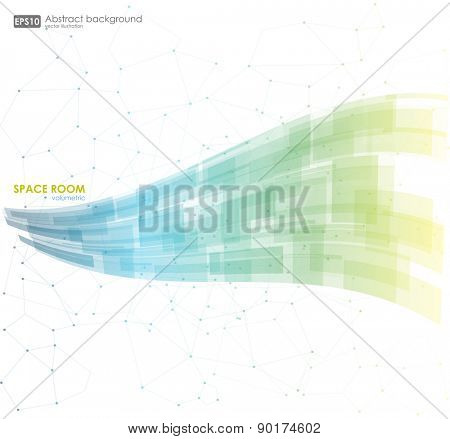 Business abstract blue background. Vector illustration. Abstract colorful background. Vector.