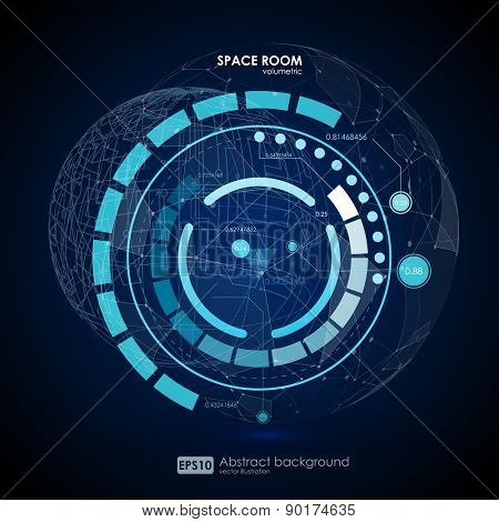 Technology abstract background. fantastic abstract background. Vector futuristic illustration.