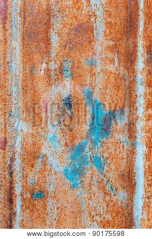 Abstract Corroded Colorful Grunge Background Iron Rusty Artistic