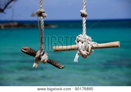 Swing Ropes And Knots At Beach 69