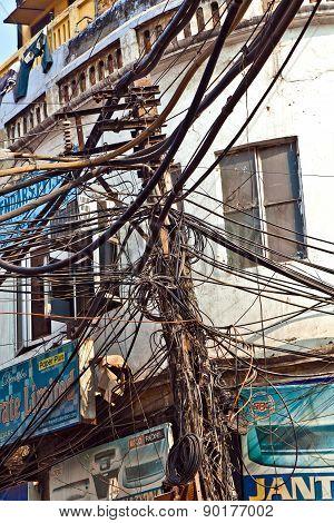 Electricity Distribution In Chawri Bazaar In Old Delhi