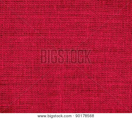 Crimson glory color burlap texture background