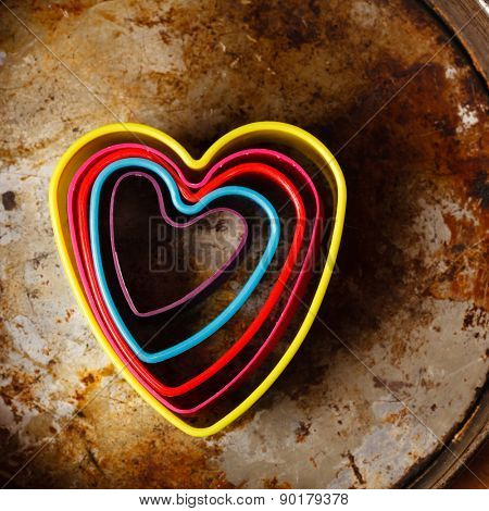 color heart cutters