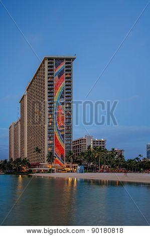 Evening in Waikiki