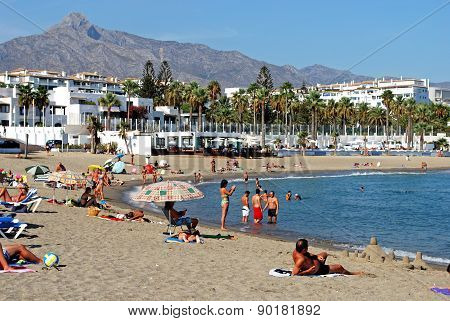 Puerto Banus Beach, Spain.