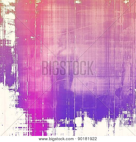 Grunge old-fashioned background with space for text or image. With different color patterns: purple (violet); blue; pink