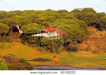 Fire Fighting Helicopter, Spain.
