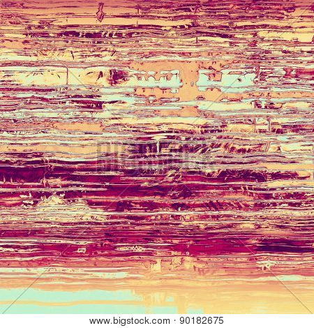 Background in grunge style. With different color patterns: yellow (beige); purple (violet); pink; cyan