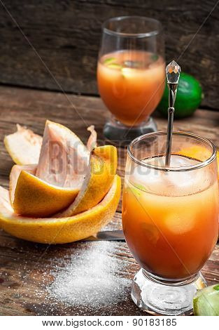 Ftwo Glasses Resh Orange Juice