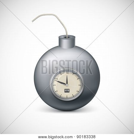 Bomb with clock.