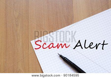 Scam Alert Concept