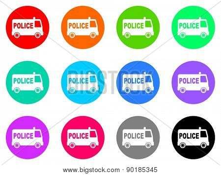 police vector web icon set