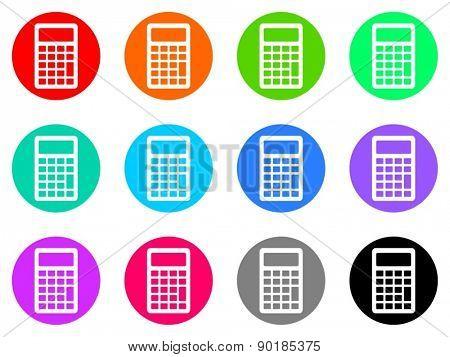 calculator vector web icon set