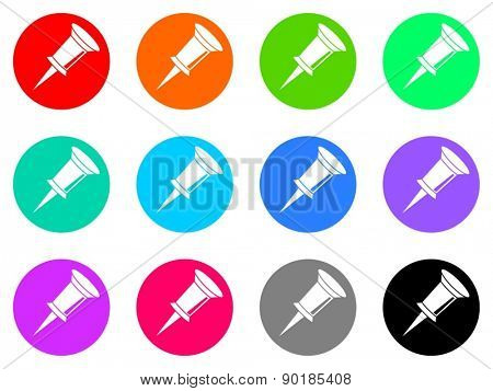 pin vector web icon set