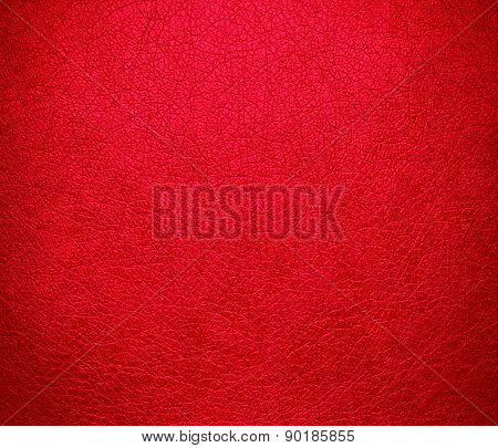 Carmine red color leather texture background