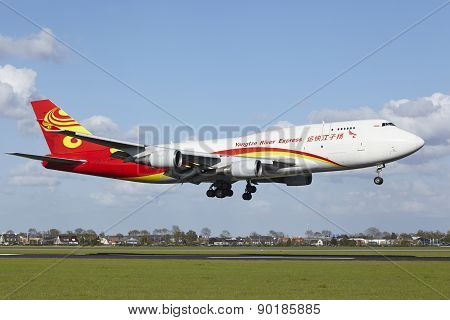 Amsterdam Airport Schiphol - Boeing 747 Of Yangtze River Express Lands
