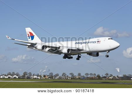 Amsterdam Airport Schiphol - Boeing 747 Of Mas-cargo Lands
