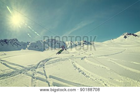 Freeskiing Skier Mountains