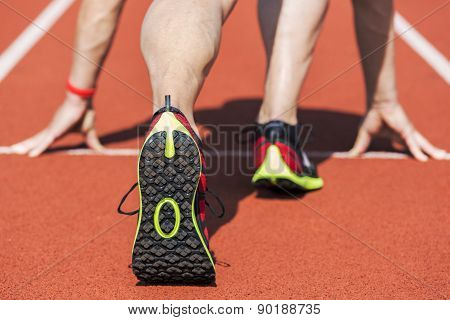 Sneaker Runner Start Position