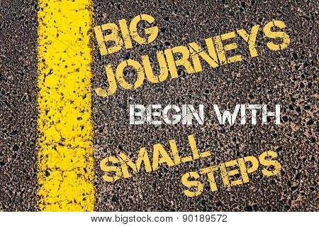 Big Journeys Begin With Small Steps  Motivational Quote.