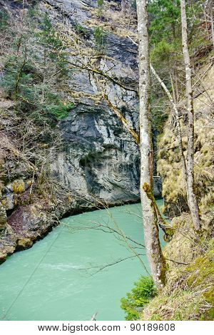 Aare Gorge - Aareschlucht On The River Aare